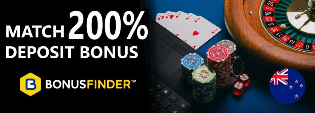 200% Deposit Bonus NZ