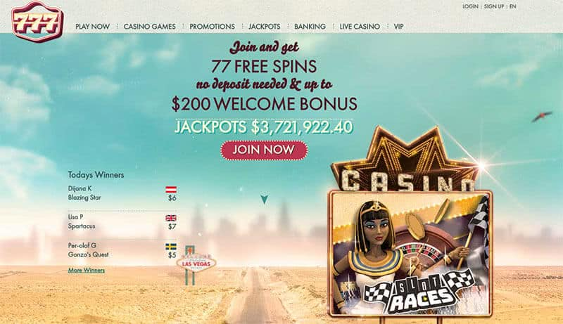 777 Casino Bonus 77 Free Spins No Deposit 1500 2020