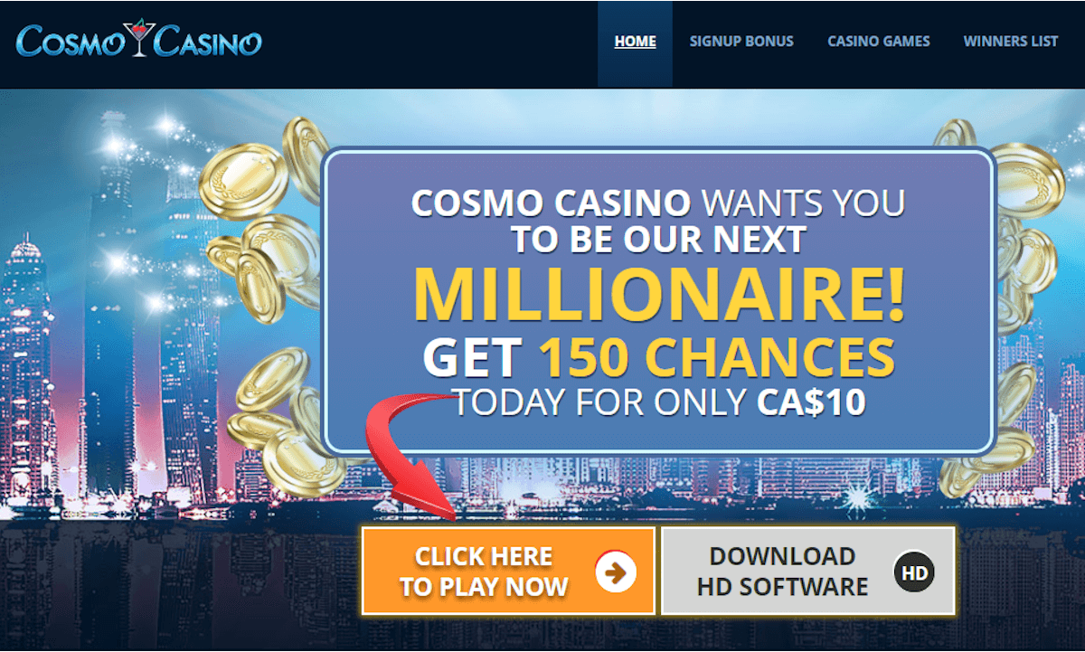 Cosmo Casino Bonus NZ