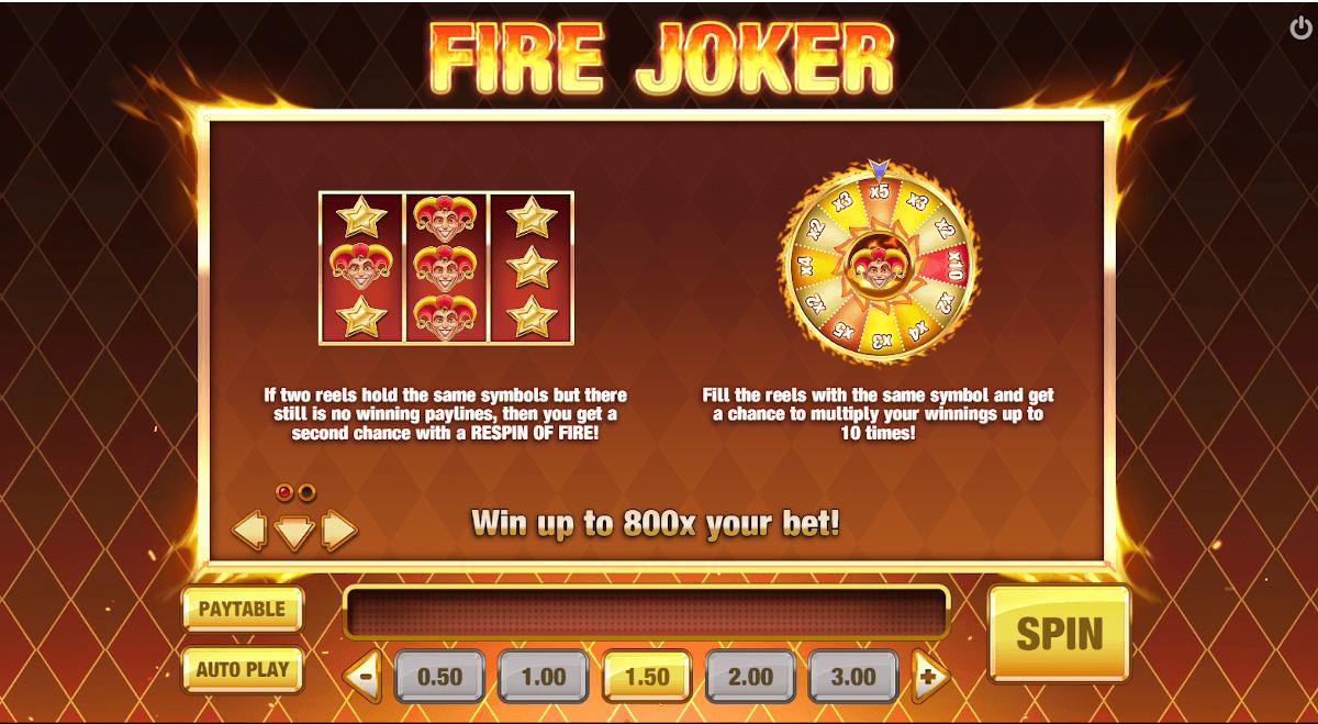 Fire Joker bonus games