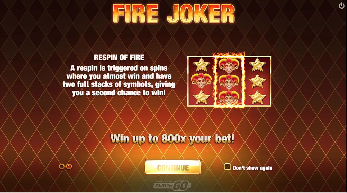 Fire Joker casino game