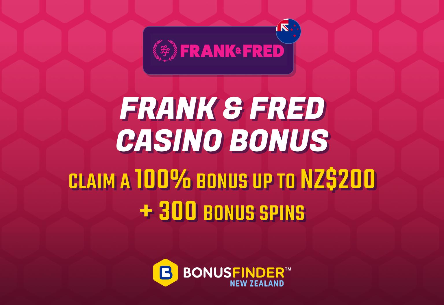 Frank & Fred casino bonus