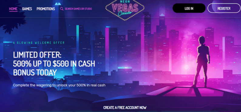 Neon Vegas Casino Bonus