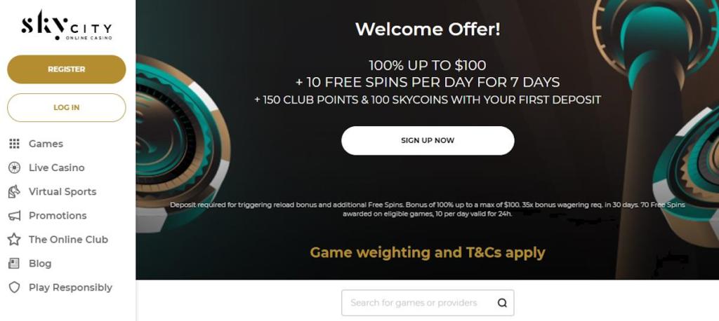 SkyCity Online Casino NZ