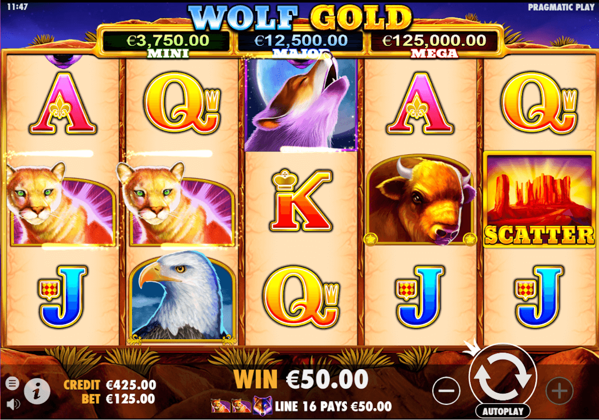 Wolf Gold videoslot