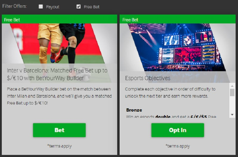 free bets nz betway