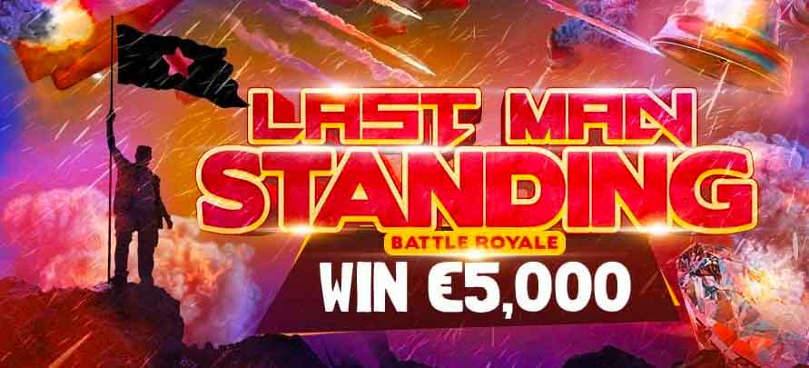 If you've got what it takes, time to be the last man standing and claim the prize from BitStarz.