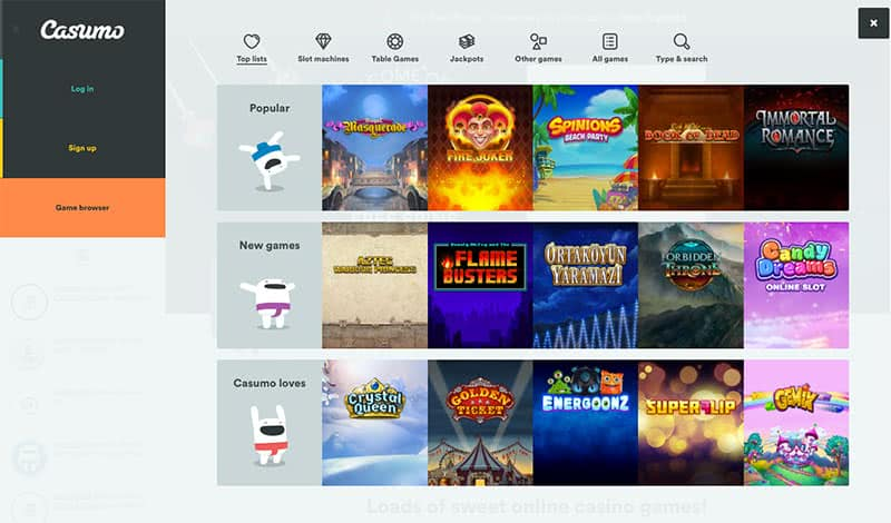 Casumo Slots and Games