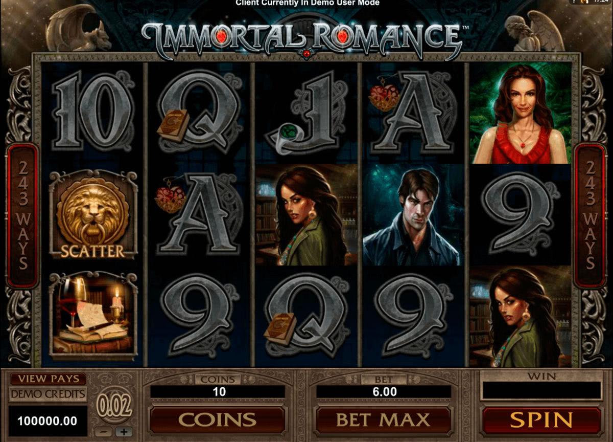pokie gameplay immortal romance