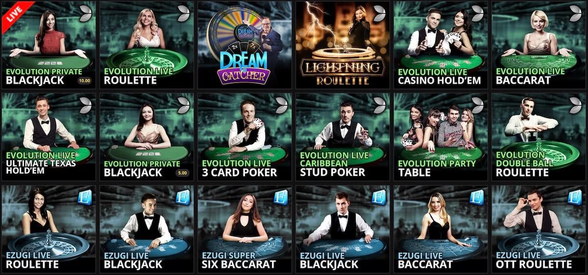 jackpot live dealer games