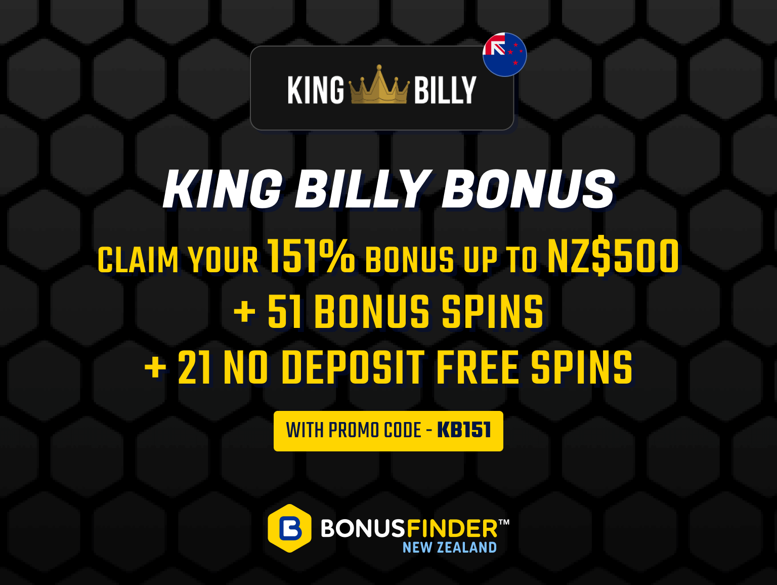 king billy bonus