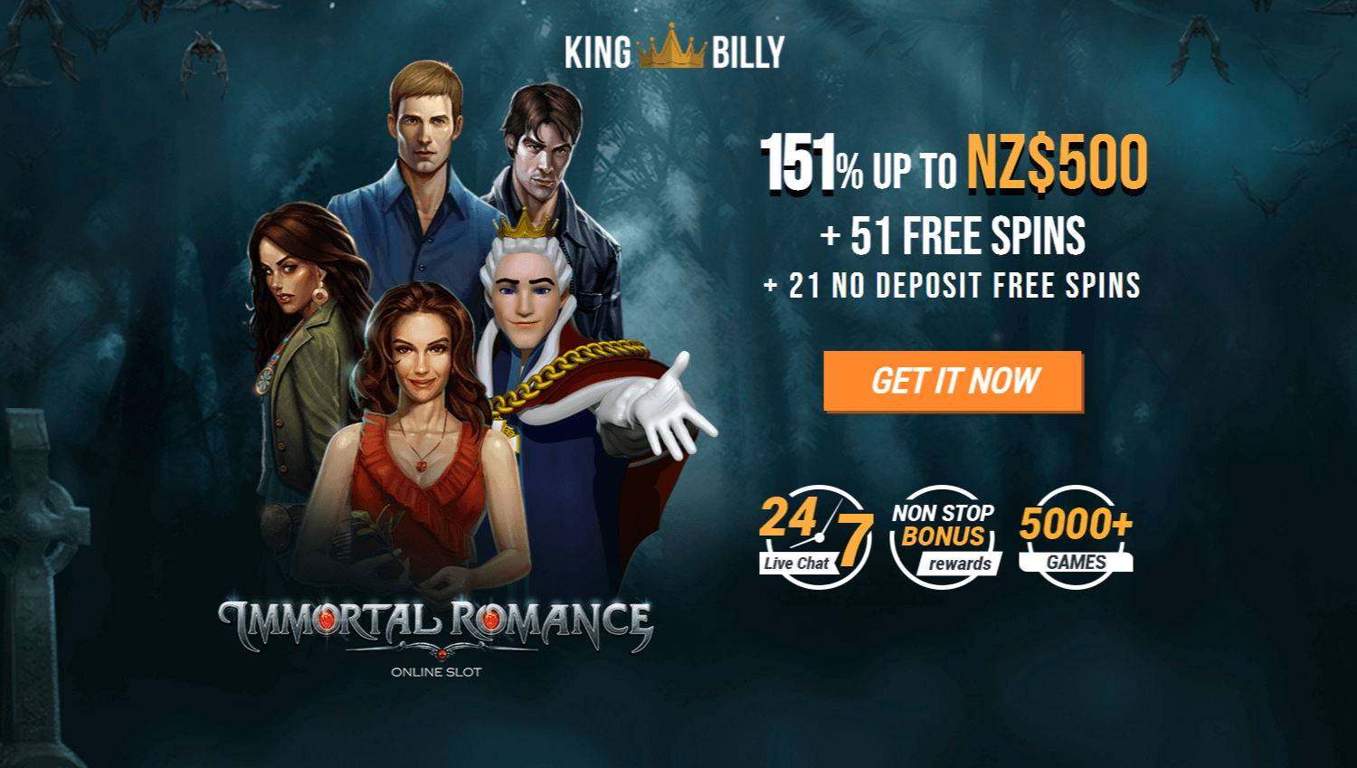 king billy no deposit bonus