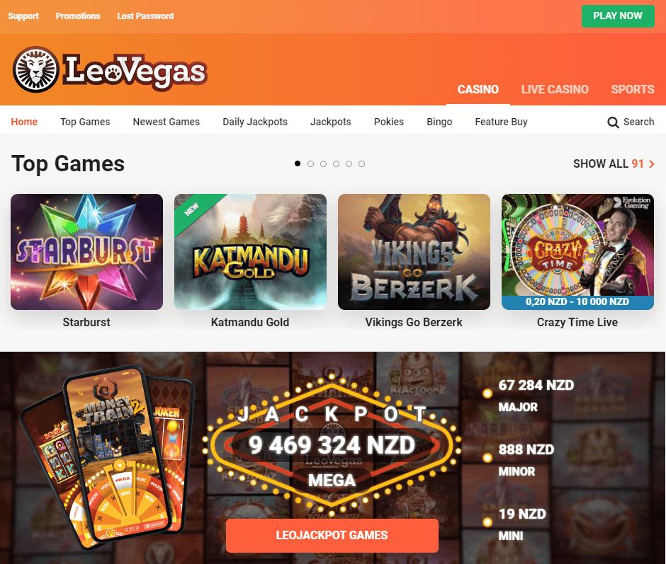 Leovegas Casino NZ