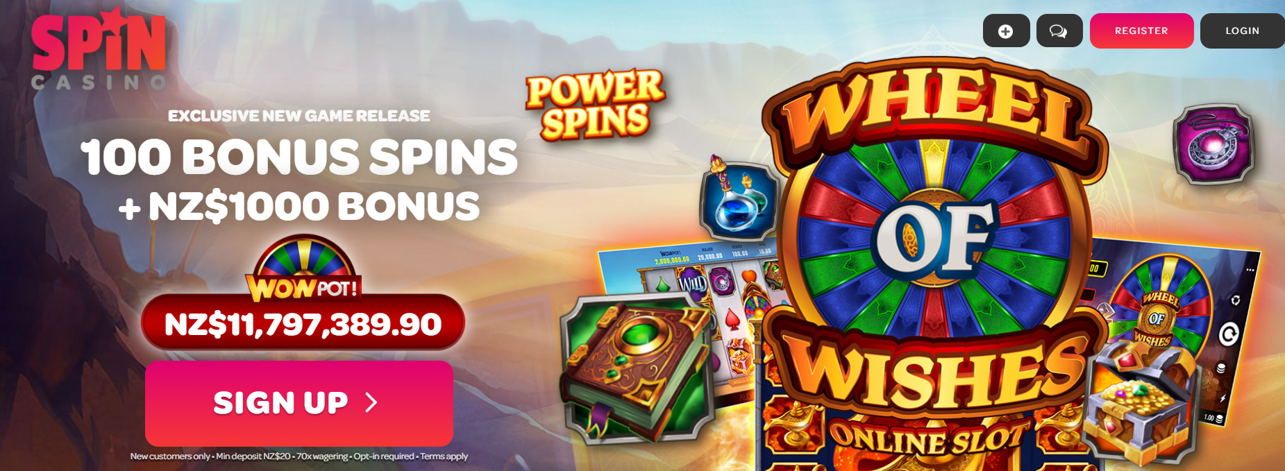spin casino NZ for real money