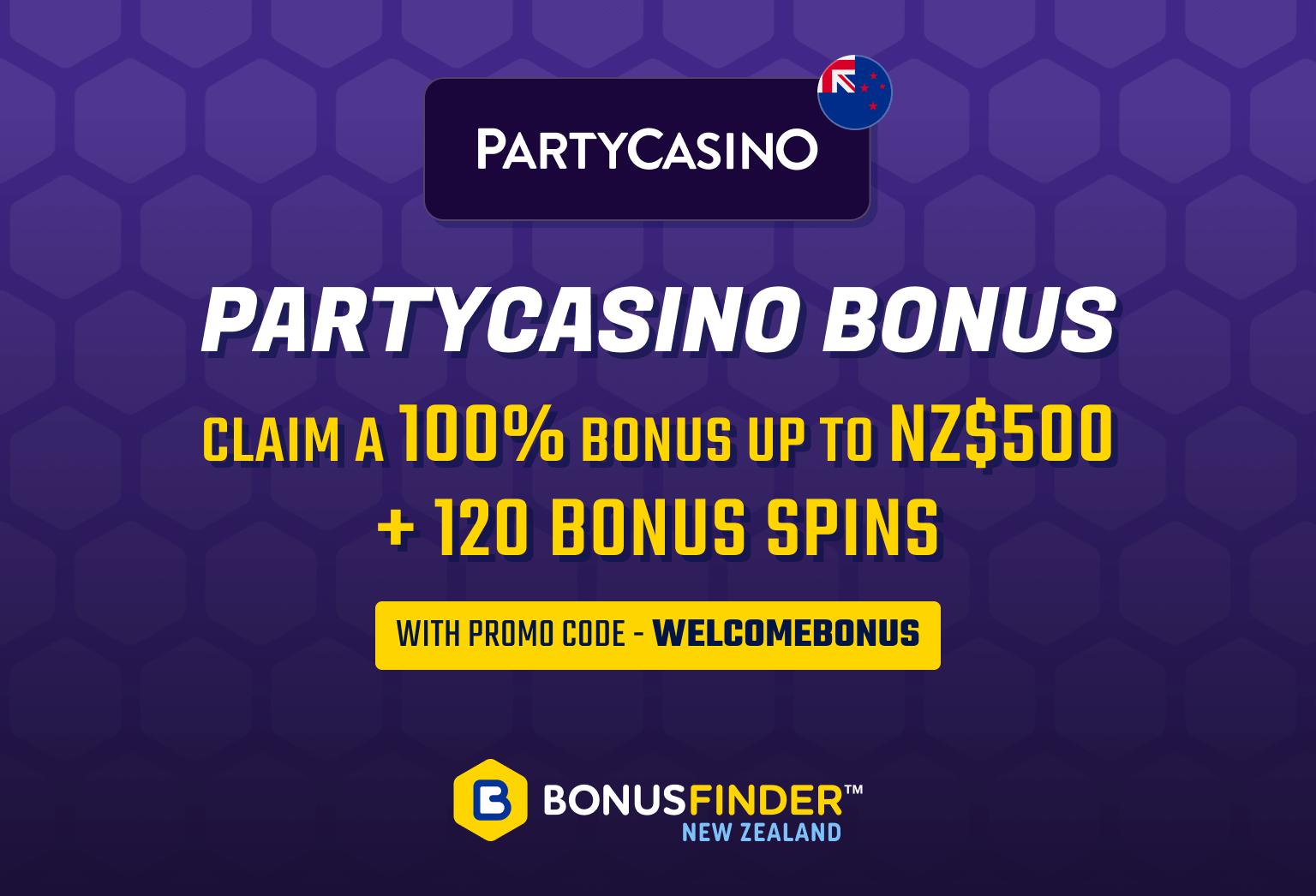 Partycasino bonus NZ