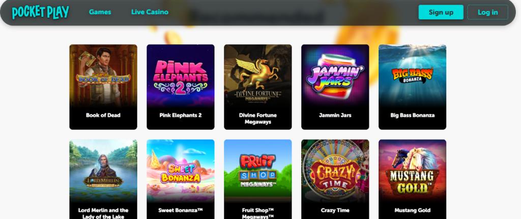 casino games at Pocket Play