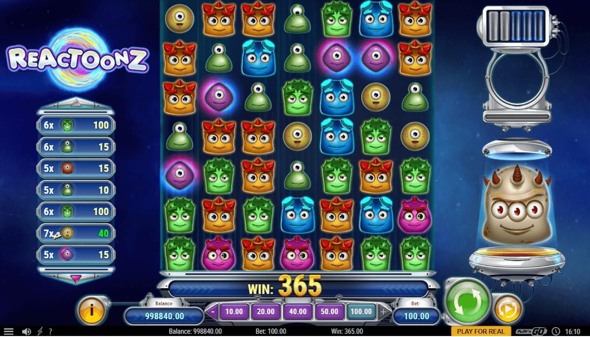 Reactoonz casino