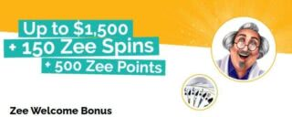 Get $1,500 bonus cash plus 150 free spins when you join Playzee