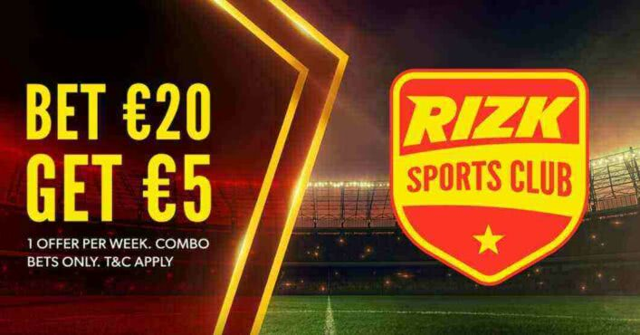 Bet $20, get $25 every week with Rizk Sports Club