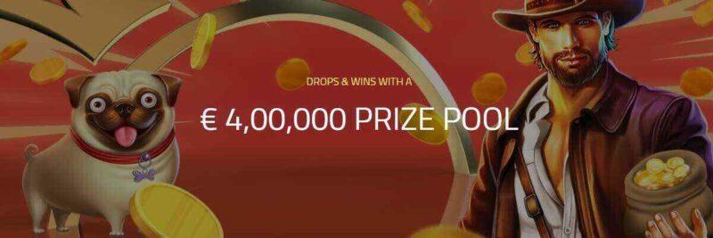 Win a piece of $4 million through drops & wins on ultra casino