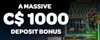 Get $1,000 thru the spin casino welcome bonus