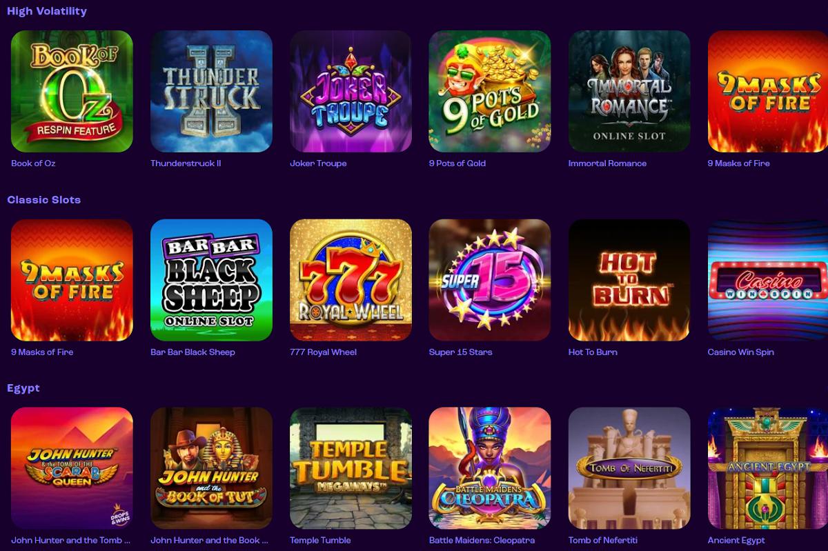 Online Slots at First Deposit Casino